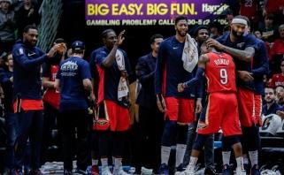 """""""Warriors"""" naujokas D.Cousinsas: padėdavau """"Pelicans"""" įsigyti naujų žaidėjų"""