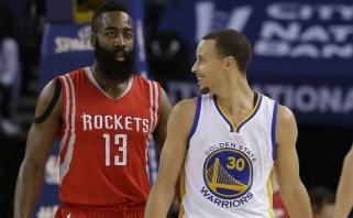 """S.Curry - apie gandus dėl J.Hardeno """"Warriors"""": prieš porą metų kalbėjo, kad atvyks LeBronas"""