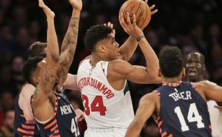 """Dominavęs Antetokounmpo nepaliko vilčių """"Knicks"""" ekipai"""