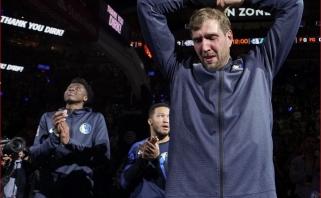 """""""Spurs"""" su D.Motiejūnu įveikė ašarų nevaldžiusio D.Nowitzkio """"Mavs"""""""