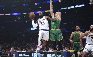 """Amžinų priešų dvikovoje """"Lakers"""" palaužė """"Celtics""""  (rezultatai)"""