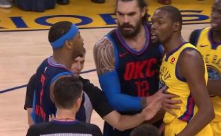 """NBA: """"Warriors"""" ir """"Thunder"""" dvikovoje - čempionų dominavimas (rezultatai)"""