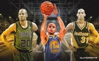S.Curry tapo trečiuoju žaidėju NBA istorijoje pasiekusiu 2500 pataikytų tritaškių ribą