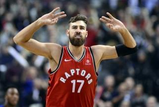 "J.Valančiūnas vedė ""Raptors"" į pergalę prieš ""Knicks"""