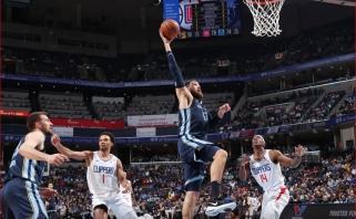 """Prieš """"Clippers"""" dominavęs Valančiūnas sužaidė geriausias sezono rungtynes (rezultatai)"""