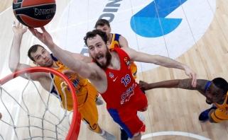 """""""Chimki"""" kibo į atlapus, bet rimtą iššūkį CSKA atlaikė"""