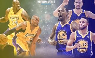 """Sh.O'Nealas: 2001-ųjų """"Lakers"""" lengvai nugalėtų dabartinius """"Warriors"""""""