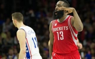 NBA naktis: J.Hardeno benefisas Filadelfijoje ir beviltiškas J.Butlerio žaidimas