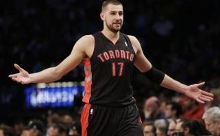 """""""Raptors"""" su J.Valančiūnu nutraukė nesėkmių seriją NBA lygoje (kiti rezultatai)"""