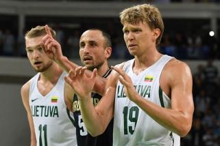 Ant savų supykęs M.Ginobili nusilenkė Lietuvai: tai - didi komanda, labai didi komanda
