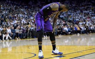"""L.Jameso trauma nėra sunki, bet kurį laiką """"Lakers"""" versis be lyderio"""