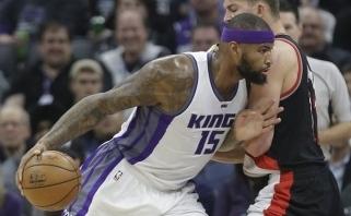 """NBA: pratęsimų gausa, nutrūkusi """"Rockets"""" serija ir sužvėrėjęs D.Cousinsas"""