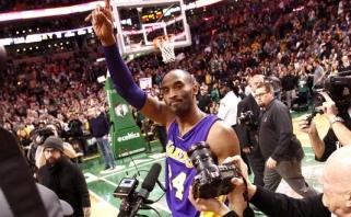 """K.Bryantas sužaidė paskutinį mačą legendinėje """"Celtics"""" arenoje"""