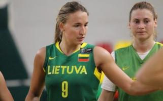 Lietuvos moterų rinktinė kontrolinių rungtynių ciklą pradėjo pralaimėjimu