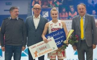 G.Tamašauskaitė apgynė snaiperės vardą LMKL tritaškių konkurse