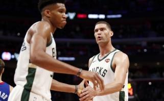 """""""Bucks"""" laimėjo pirmą atkrintamųjų seriją nuo 2001-ųjų, """"Jazz"""" pirmąkart įveikė """"Rockets"""""""