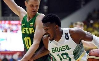 Pasirengimą olimpiadai Lietuva baigė pralaimėjimu brazilams (video komentaras)