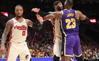 """""""Lakers"""" žvaigždės L.Jamesas ir A.Davisas giria """"Blazers"""" ir jų lyderį"""