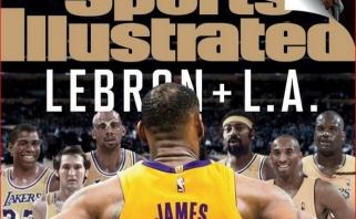 """L.Jamesą """"Sports Illustrated"""" rekordinį trečią kartą išrinko metų sportininku"""