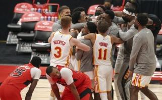 """NBA naktis: pergalingas metimas su sirena į """"Raptors"""" krepšį ir dramatiška """"Pistons"""" nesėkmė"""