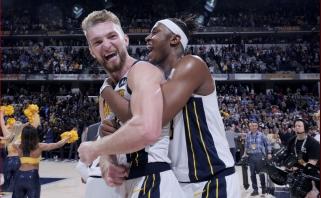 """Vieną geriausių karjeros mačų sužaidęs Sabonis nukalė fantastišką """"Pacers"""" pergalę"""