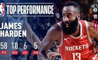 Jordano lygis: nežemiškai žaidžiantis Hardenas per du mačus pelnė 115 taškų (rezultatai)