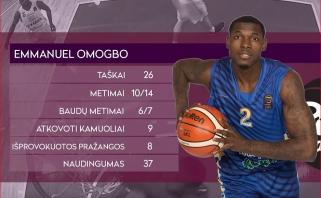 E.Omogbo - antrąkart LKL savaitės MVP (visi naudingiausieji)