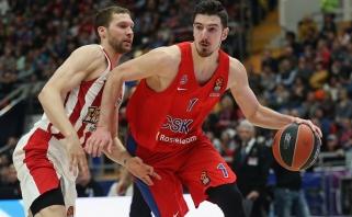 """CSKA palaužė """"Olympiakos"""" ir yra nebepavejami reguliariajame sezone"""