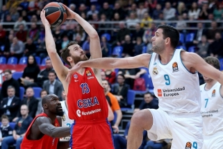 """CSKA pratęsė pergalių seriją įveikdama """"Real"""", J.Mačiulis žaidė epizodiškai"""