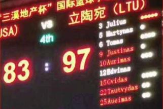 NKL čempionai pirmajame mače Kinijoje įveikė amerikiečius