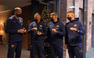 """Keturi """"Barcelonos"""" lietuviai atsiėmė LKL čempionų žiedus"""