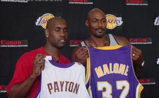 """G.Paytonas: mes su K.Malone'u planavome sujungti jėgas gerokai anksčiau iki perėjimo į """"Lakers"""""""