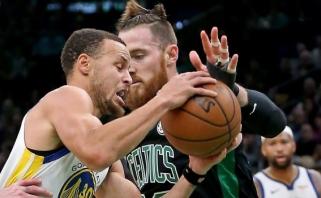 """Epiškame """"Celtics"""" ir """"Warriors"""" mūšyje - dramatiška čempionų pergalė (rezultatai)"""