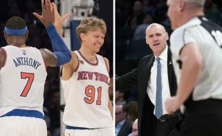 """NBA kuriozas: M.Kuzminskas įdėjo ir privertė varžovus apsijuokti - """"Knicks"""" laimėjo"""