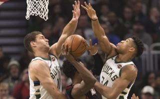 """Net trys """"Bucks"""" atstovai - geriausiai besiginančių žaidėjų penketuose"""