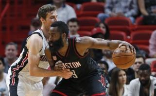 """NBA naktis: """"Rockets"""" netikėtai krito Majamyje, N.Jokičius toliau siautėja"""