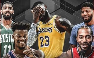 """L.Jamesas jau pradėjo vilioti NBA žvaigždes į """"Lakers"""""""