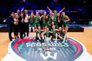 Permainingame Karalienės taurės finale kaunietės palaužė vilnietes ir apgynė titulą