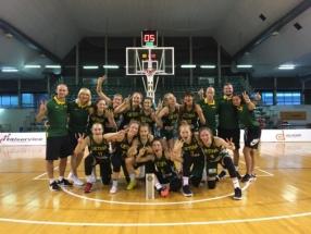Europos čempionatui besiruošiančios jaunės įveikė ukrainietes ir turnyre Italijoje užėmė antrą vietą