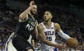 NBA ikisezoninės startavo: Simmonso perdavimų šou ir ilgai lauktas Haywardo sugrįžimas