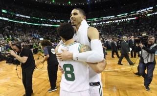 """Prabudę """"Celtics"""" palaužė """"Bucks"""" ir žengė į konferencijos pusfinalį"""
