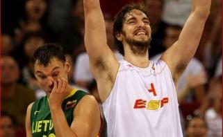 Š.Jasikevičius P.Gasolio netreniruos - Ispanijos krepšinio superžvaigždė per brangi katalonams