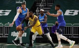 LeBrono tolimas šūvis ir Mitchello perdavimas žiūrint į krepšį - gražiausi NBA momentai