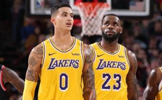 """""""Lakers"""" puolėjas K.Kuzma iškrito iš rikiuotės nenustatytam laikotarpiui"""