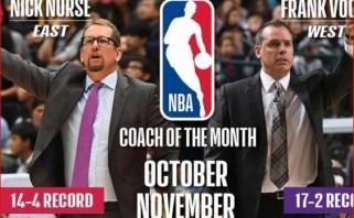 """""""Raptors"""" ir """"Lakers"""" strategai - NBA spalio ir lapkričio treneriai"""