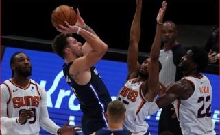 """Dramatiškoje atomazgoje – netaiklus Dončičiaus metimas; """"Grizzlies"""" įveikė """"Spurs"""" (rezultatai)"""