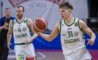 """""""Žalgiris"""" pagerino LKL sezono rezultatyvumo rekordą bei užtikrintai laimėjo antrąjį pusfinalio mačą"""