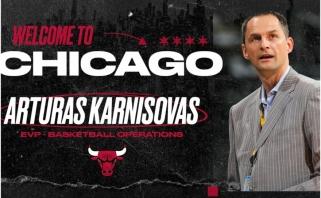 """""""Bulls"""" klubui oficialiai pristatytas A.Karnišovas: tai mano svajonių viršūnė"""