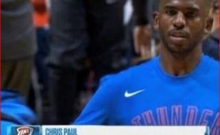 L.Jamesas pasišaipė iš ESPN prognozės, kad Ch.Paulas ir Thunder nepateks į atkrintamąsias
