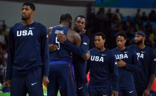 Olimpiados finale serbai amerikiečiams pasipriešino tik pirmą kėlinį